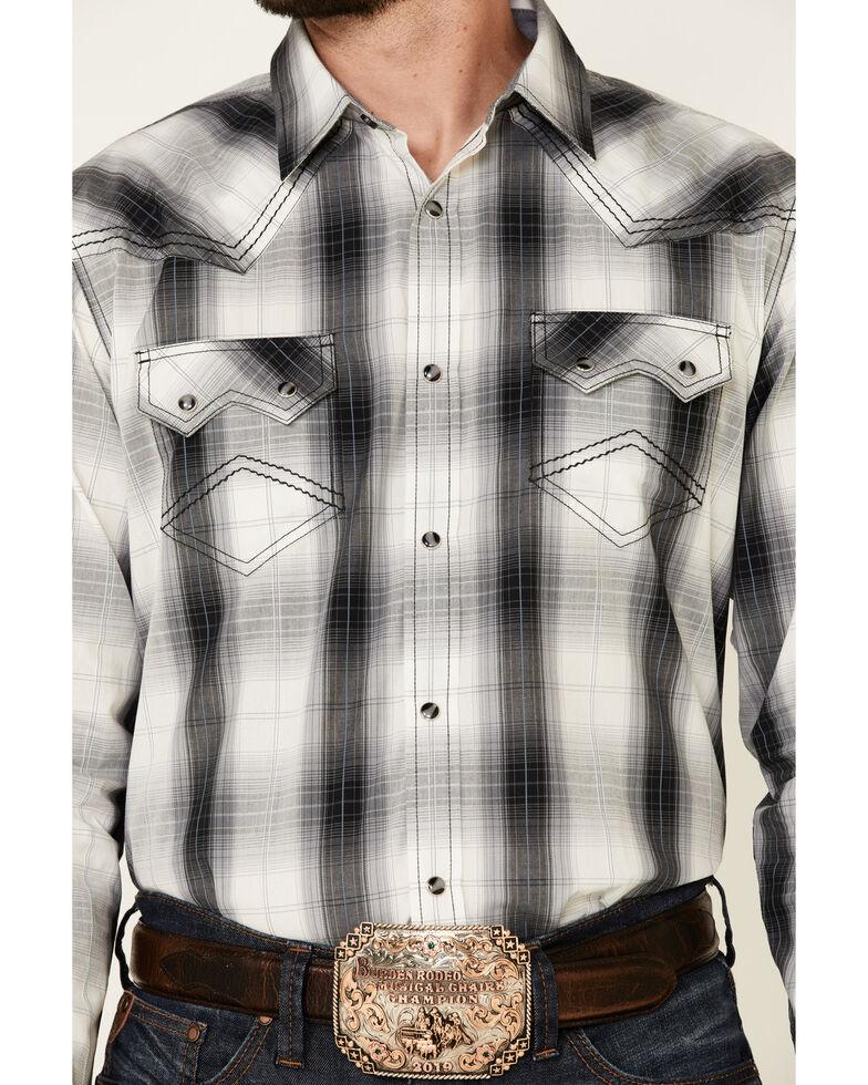 Cody James Reel Large Plaid Long Sleeve Snap Western Shirt , White, hi-res