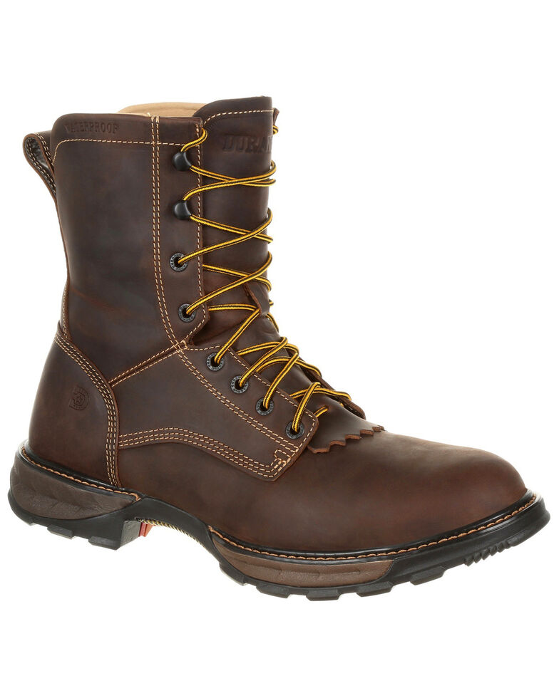 Durango Men's Maverick Waterproof Work Boots - Steel Toe, Brown, hi-res