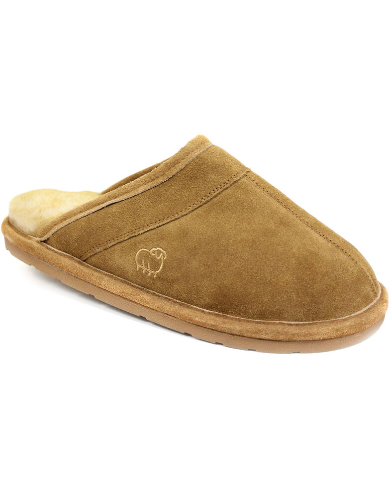 Lamo Footwear Men's Scuff Slippers, Chestnut, hi-res