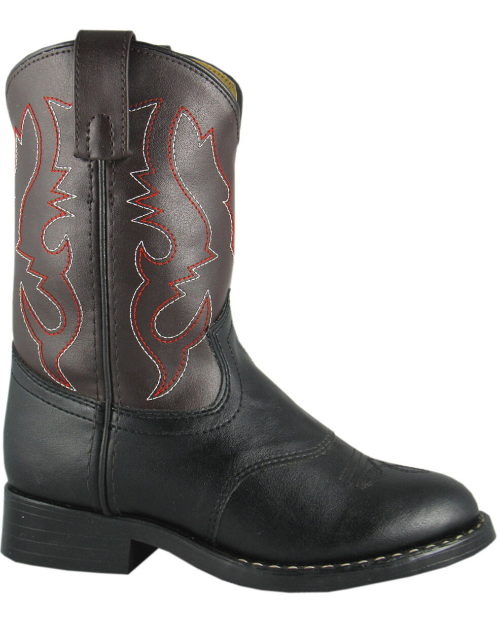 Smoky Mountain Boys' Diego Western Boots - Round Toe, Black, hi-res