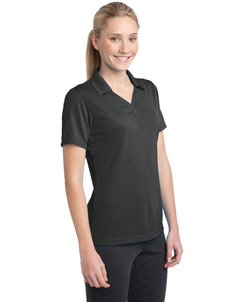 Sport-Tek Women's Iron Grey 3X PosiCharge Micro-Mesh Polo - Plus, Grey, hi-res