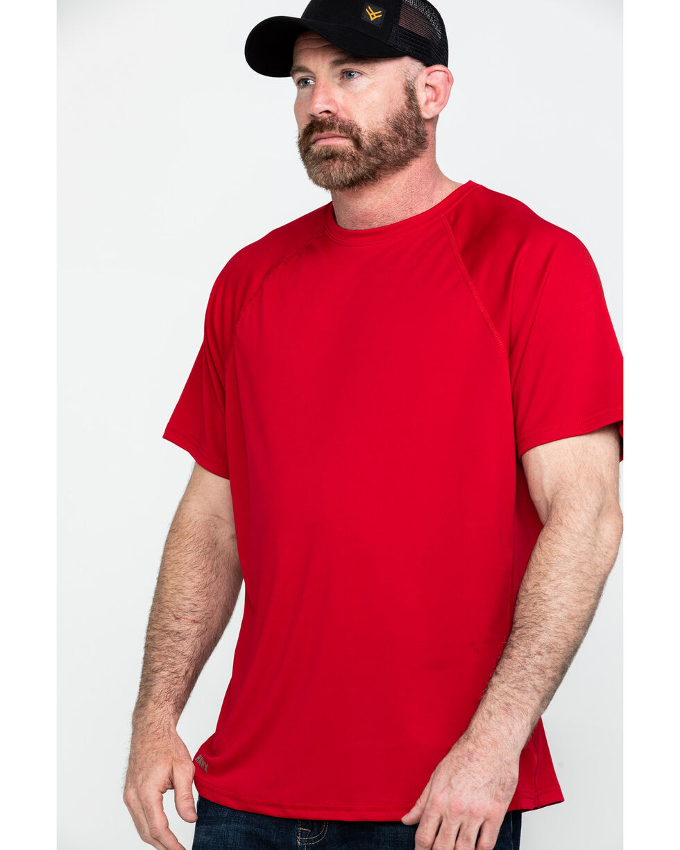 Hawx® Men's Solid Performance Work T-Shirt , Red, hi-res