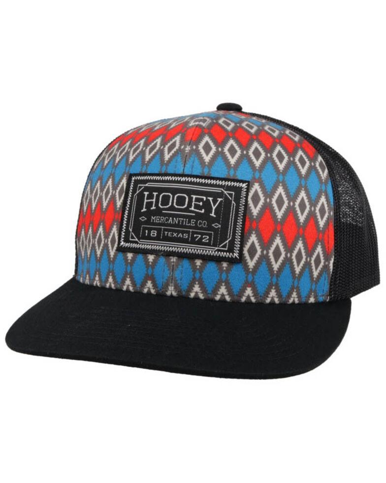 HOOey Men's Doc Patch Aztec Print Mesh Ball Cap , Multi, hi-res