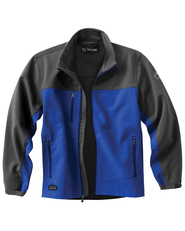 Dri Duck Men's Motion Softshell Work Jacket, Blue, hi-res