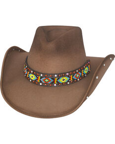 5661d567557 Bullhide Hats Women s Bad Axe River Wool Felt Cowboy Hat