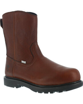Iron Age Men's Hauler Wellington Work Boots - Composite Toe , Brown, hi-res