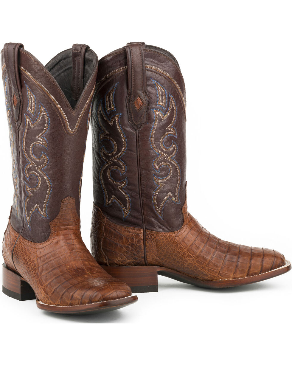 Stetson Men's Branson Caiman Exotic Boots, Brown, hi-res