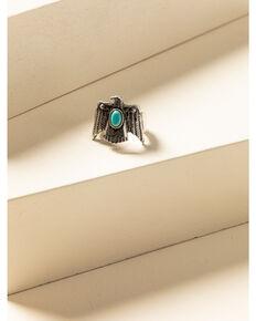 Idyllwind Women's Turquoise Beaded Thunderbird Ring, Silver, hi-res