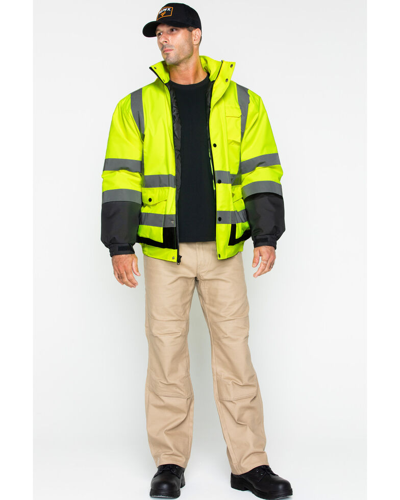 Hawx Men's 3-In-1 Bomber Reflective Work Jacket , Yellow, hi-res