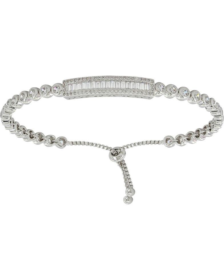 Montana Silversmiths Women S Silver Baguette Lariat Bracelet Hi Res