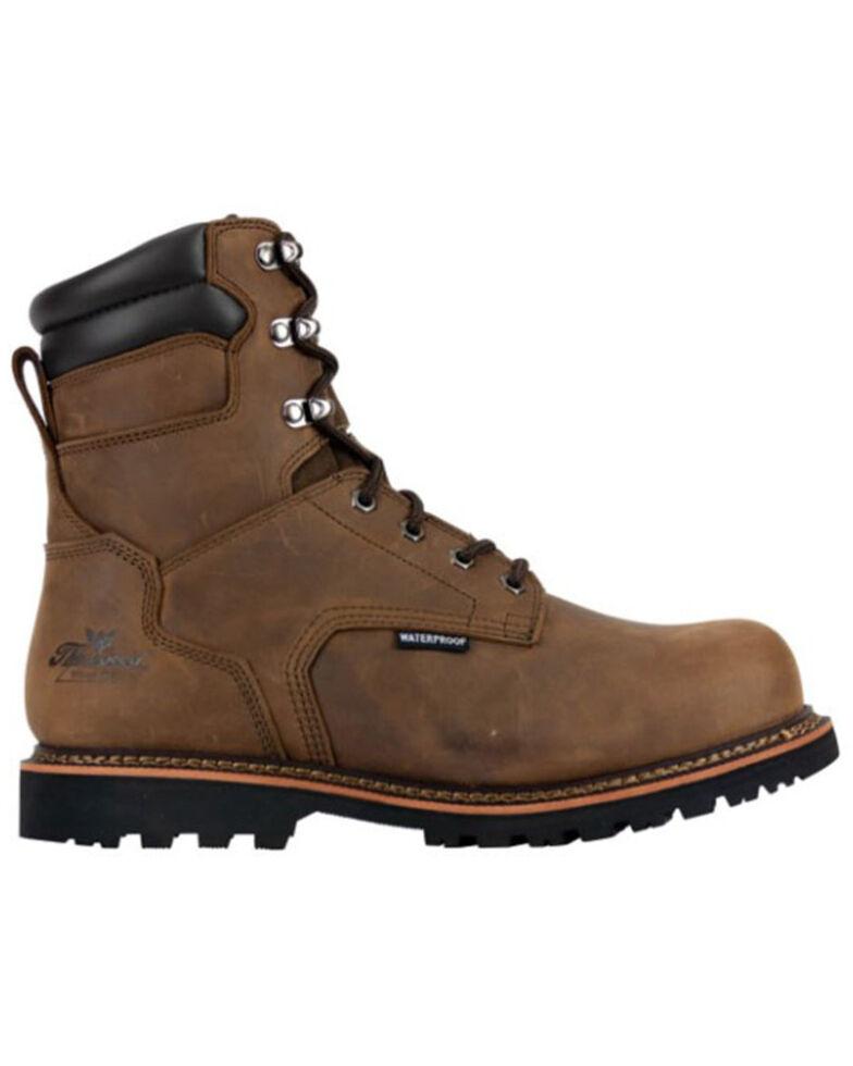 Thorogood Men's V-Series Waterproof Work Boots - Steel Toe, Brown, hi-res