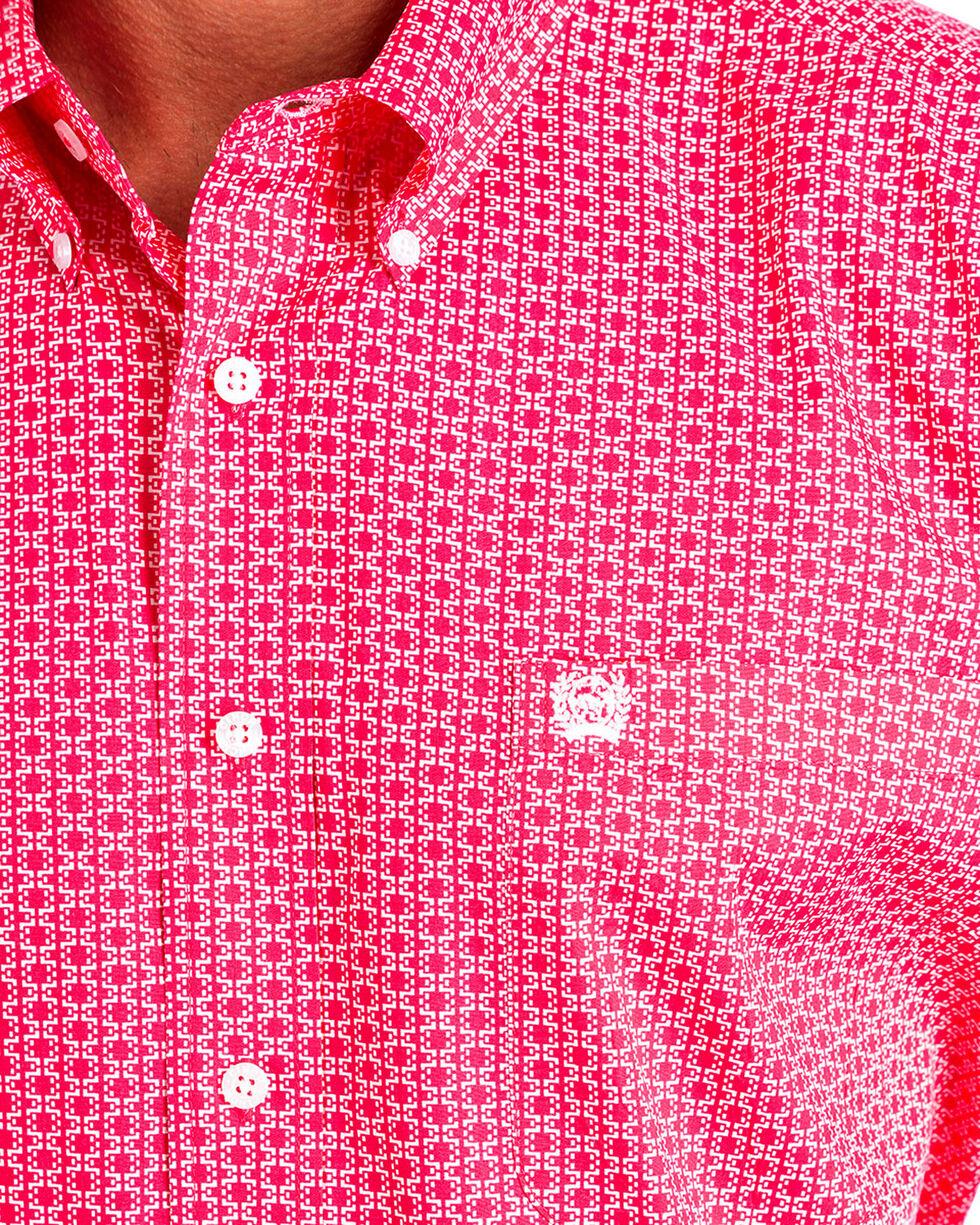 Cinch Men's Pink Patterned Long Sleeve Shirt , Pink, hi-res