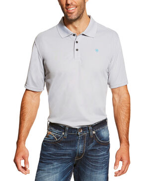 Ariat Men's Tek Polo Shirt, Silver, hi-res