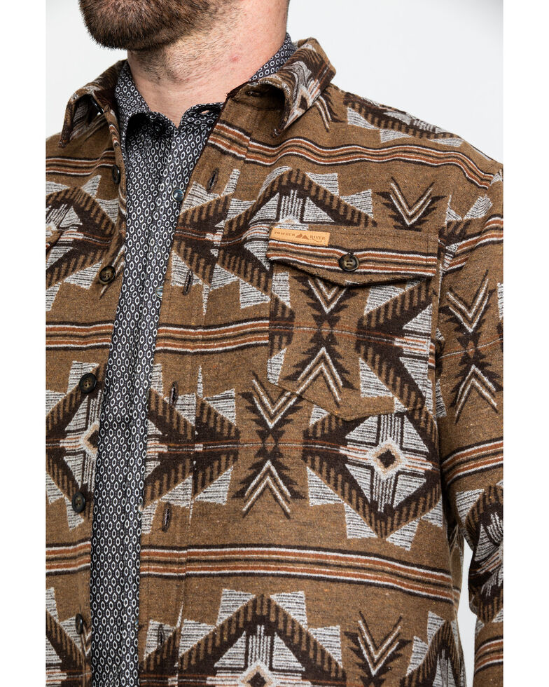 Powder River Outfitters Men's Aztec Jacquard Shirt Jacket , Brown, hi-res