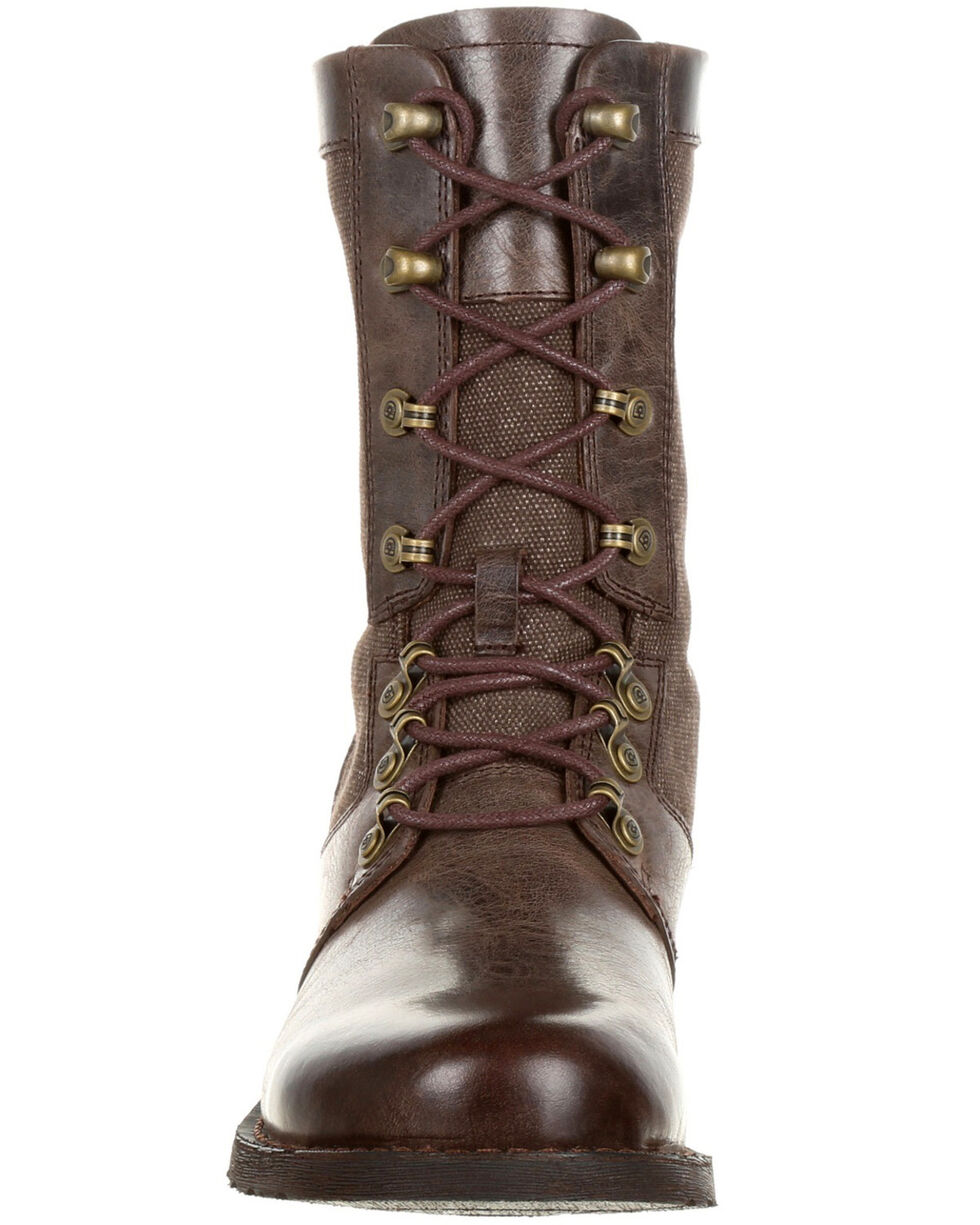 Durango Women's Drifter Lacer Boots - Round Toe, Dark Brown, hi-res
