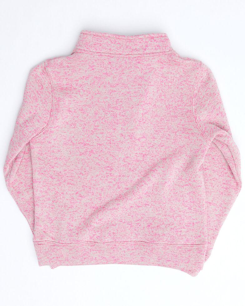 Cowgirl Hardware Girls' Pink Cactus Cadet 1/2 Zip Pullover , Pink, hi-res