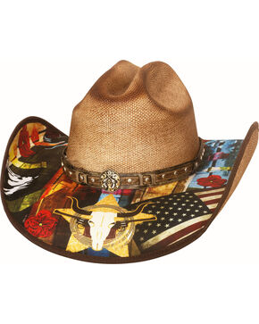 Bullhide Women's I Need A Drink Straw Hat , Pecan, hi-res