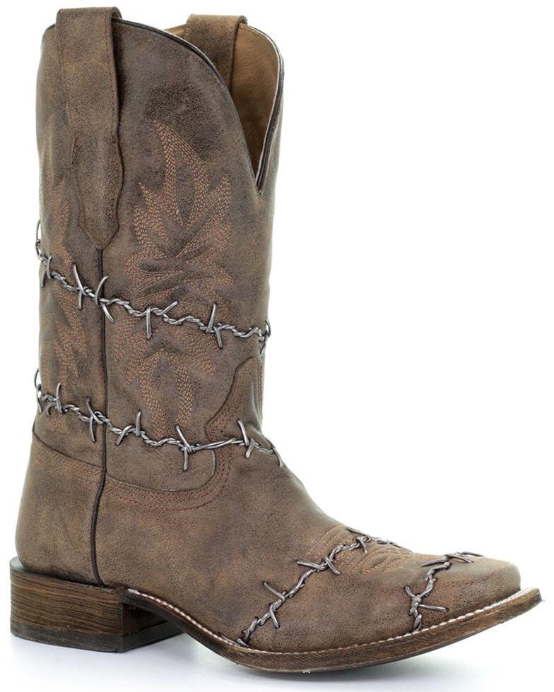 Corral Men's Rustic Brown Western Boots - Square Toe, Brown, hi-res