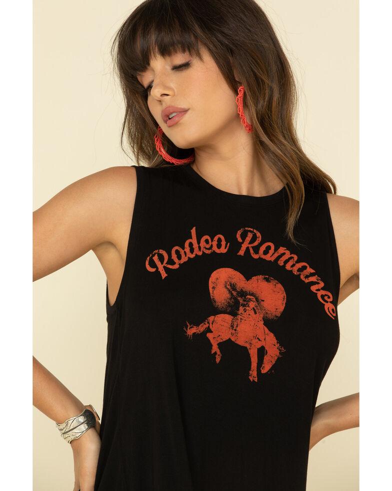 White Crow Women's Black Rodeo Romance Split Back Tank Top, Black, hi-res