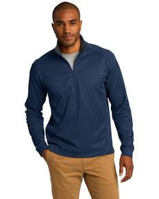 Port Authority Men's True Navy & Iron Grey Virtual Texture 1/4 Zip Work Pullover Sweatshirt , Multi, hi-res