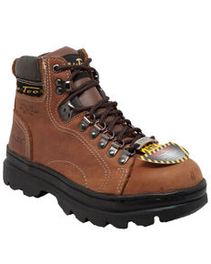 "Ad Tec Women's Brown 6"" Work Boots - Steel Toe, Brown, hi-res"