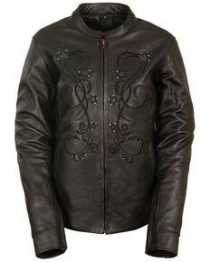 Milwaukee Leather Women's Reflective Star Jacket - 4X, Black, hi-res