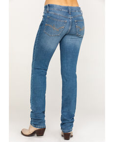 Wrangler Women's Everyday Lancaster Mid-Rise Straight Leg Jeans, Medium Blue, hi-res