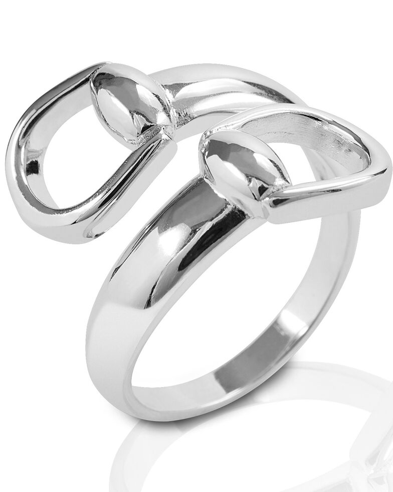 Kelly Herd Women's New Bit Ring , Silver, hi-res
