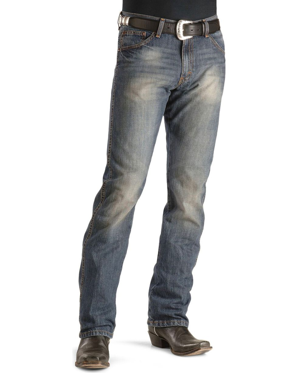 Wrangler Retro Men's Slim Straight Jeans, Dark Rinse, hi-res