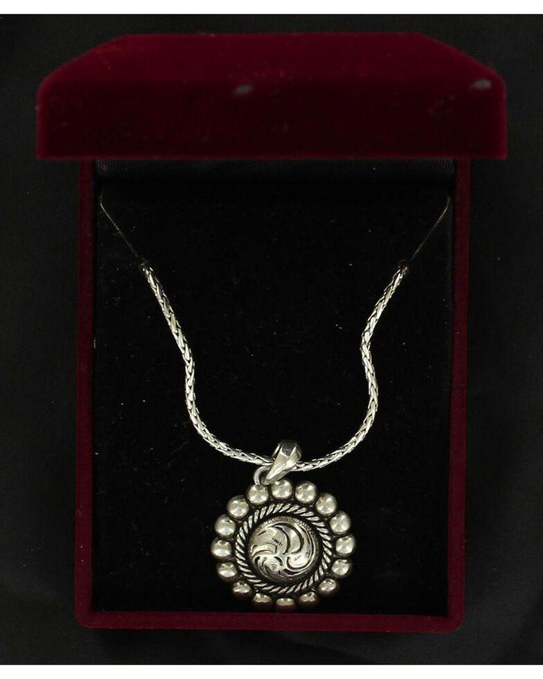 Lightning Ridge Roped & Beaded Pendant Necklace, Silver, hi-res