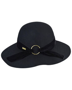 Betmar Women's Wharton Black Wide Brim Floppy Hat, Black, hi-res