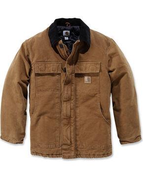 Carhartt Men's Sandstone Traditional Arctic Quilt Lined Coat, Carhartt Brown, hi-res