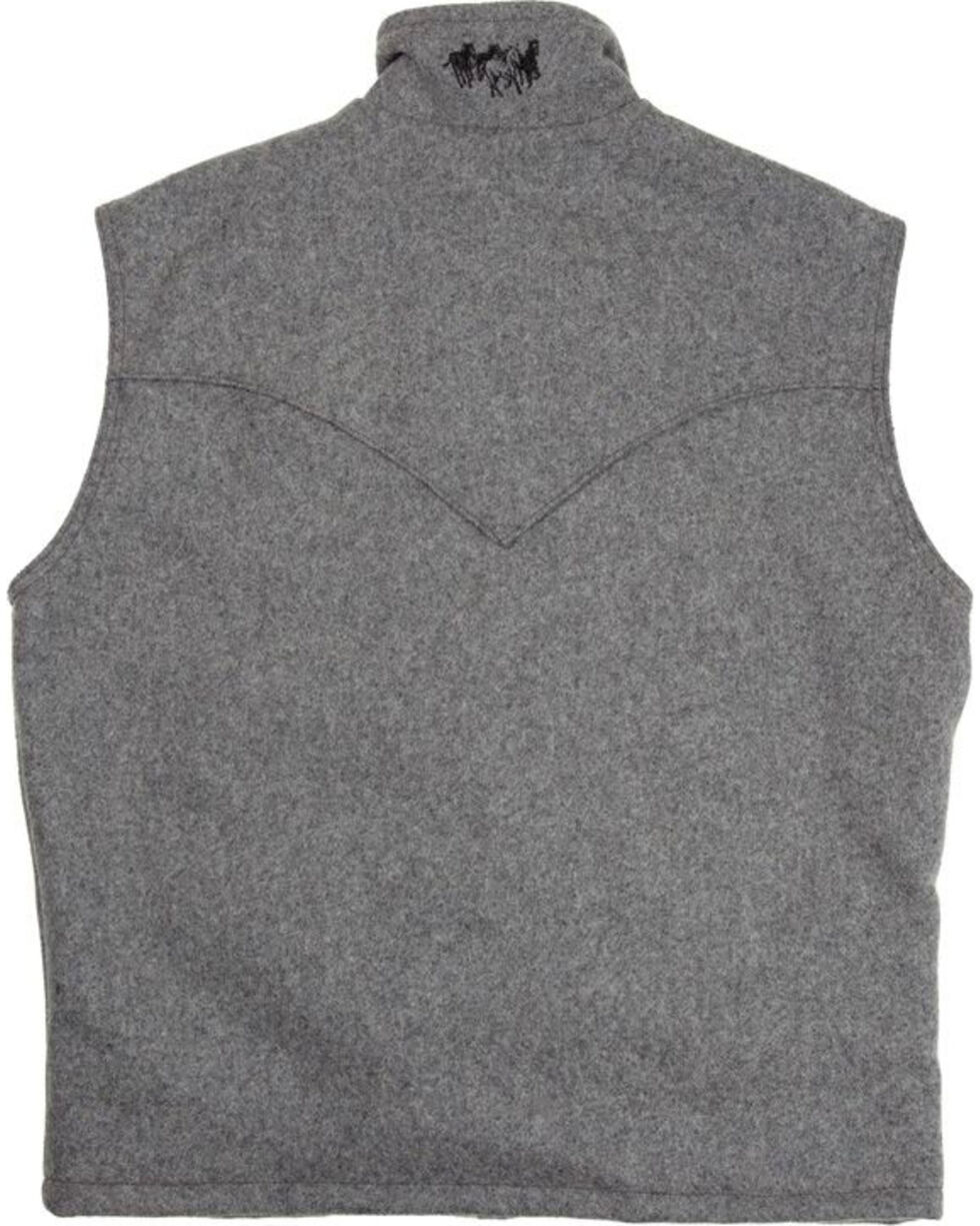 Schaefer Men's Heather Grey Arena Melton Wool Vest, Grey, hi-res