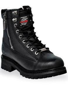 Milwaukee Motorcycle Clothing Co. Men's Accelerator Moto Boots - Round Toe, Black, hi-res