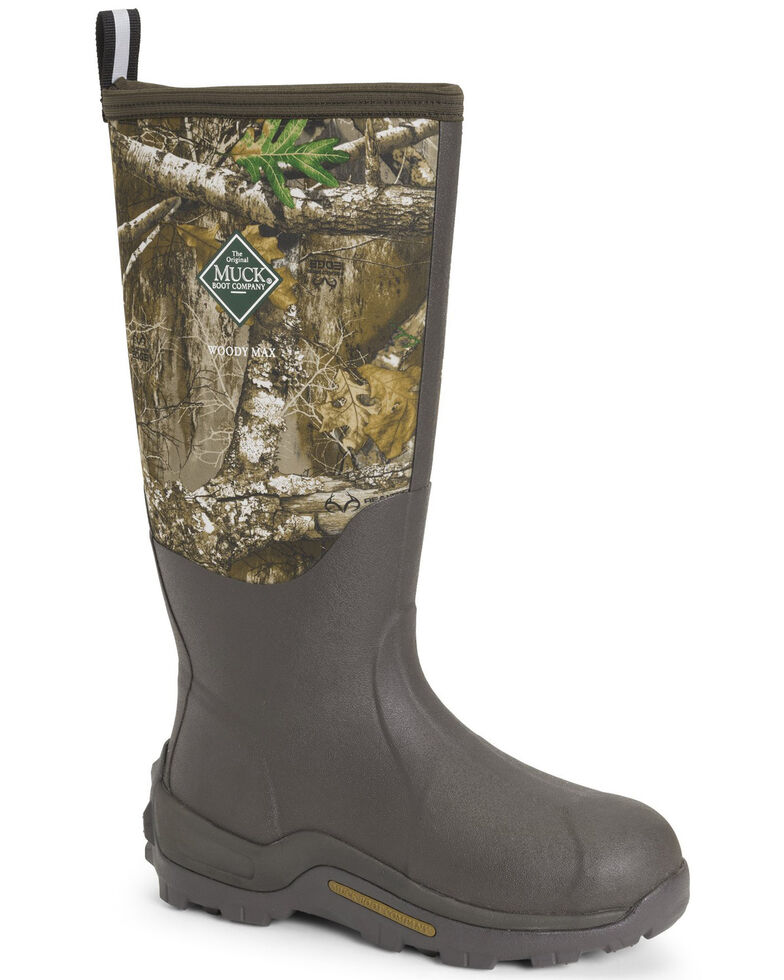 Muck Boots Men's Woody Max Rubber Boots - Round Toe, Brown, hi-res