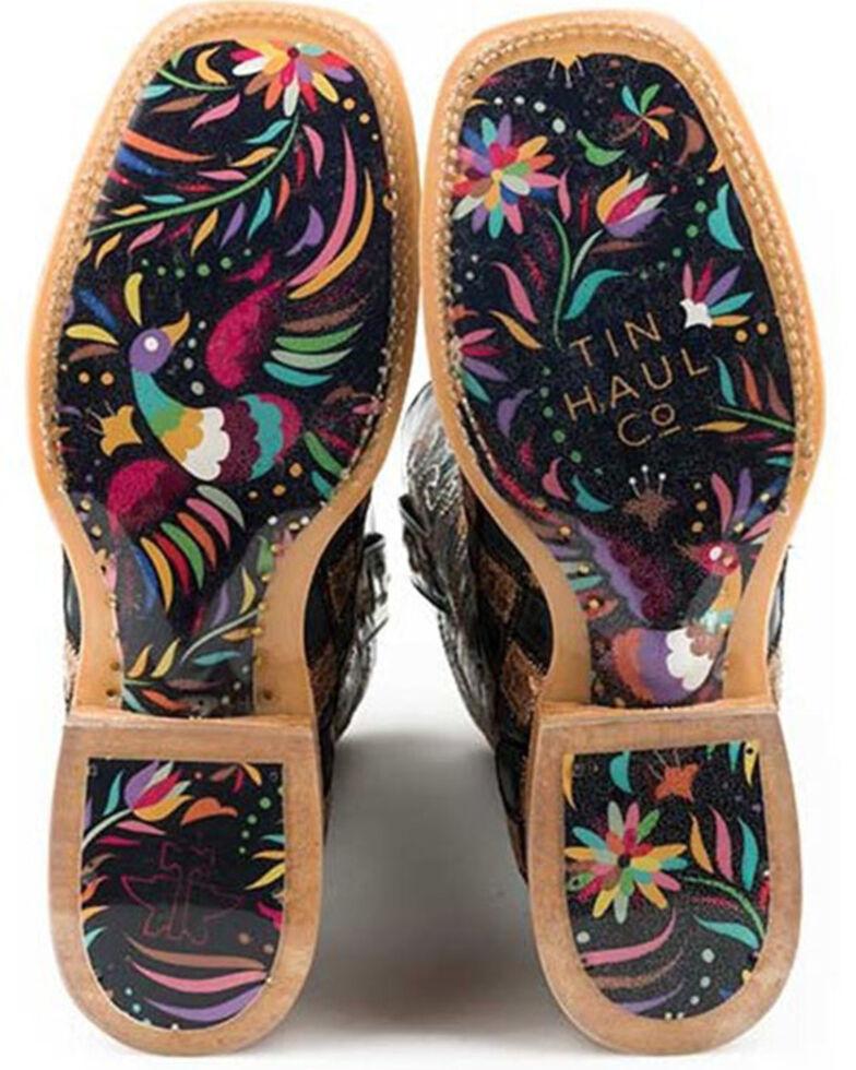 Tin Haul Women's Ooh La La Western Boots - Wide Square Toe, Brown, hi-res