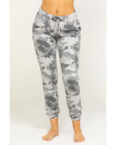 Idyllwind Women's Cozytown Camo Sweatpants, Grey, hi-res