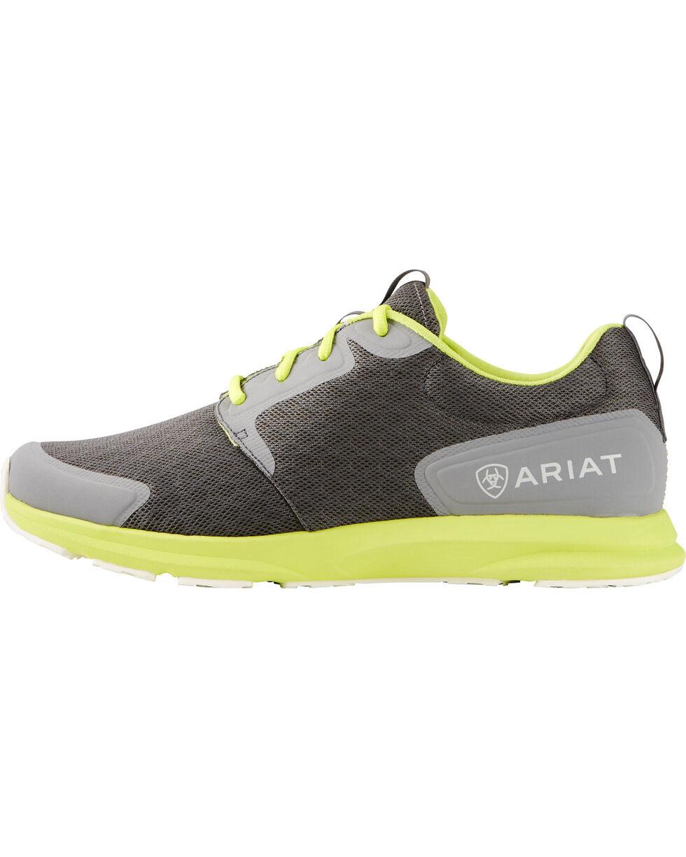 Ariat Men's Fuse Neon Shoes, Charcoal Grey, hi-res