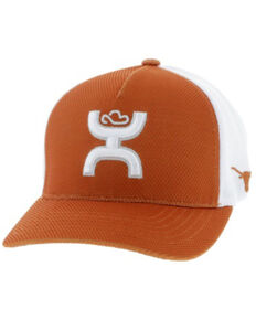 HOOey Men's UT Flex Fit Mesh Logo Cap , Orange, hi-res