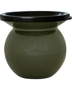 Solid Mud Jug Portable Spittoon, Olive, hi-res
