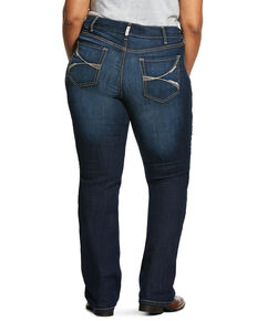 Ariat Women's Dark R.E.A.L. Lucia Bootcut Jeans - Plus, Blue, hi-res