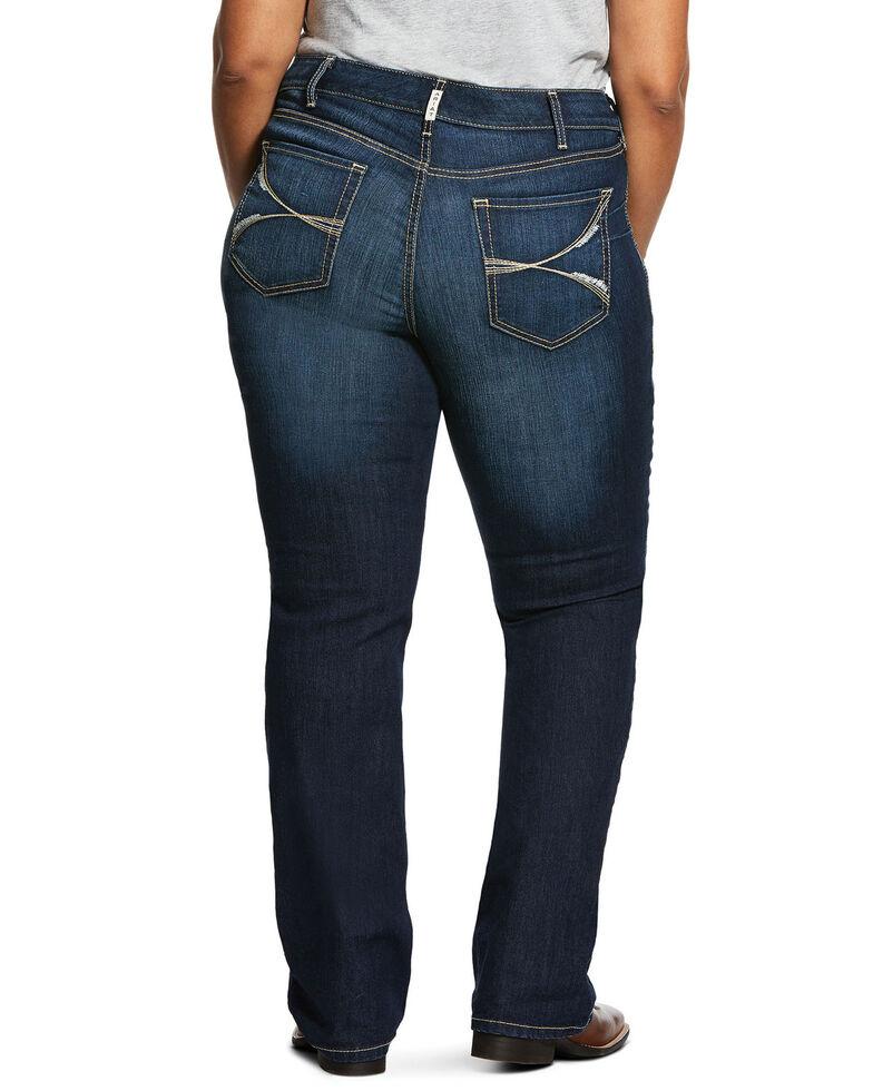 Ariat Women's Dark R.E.A.L. Lucia Bootcut Jeans - Plus, Blue, hi-res