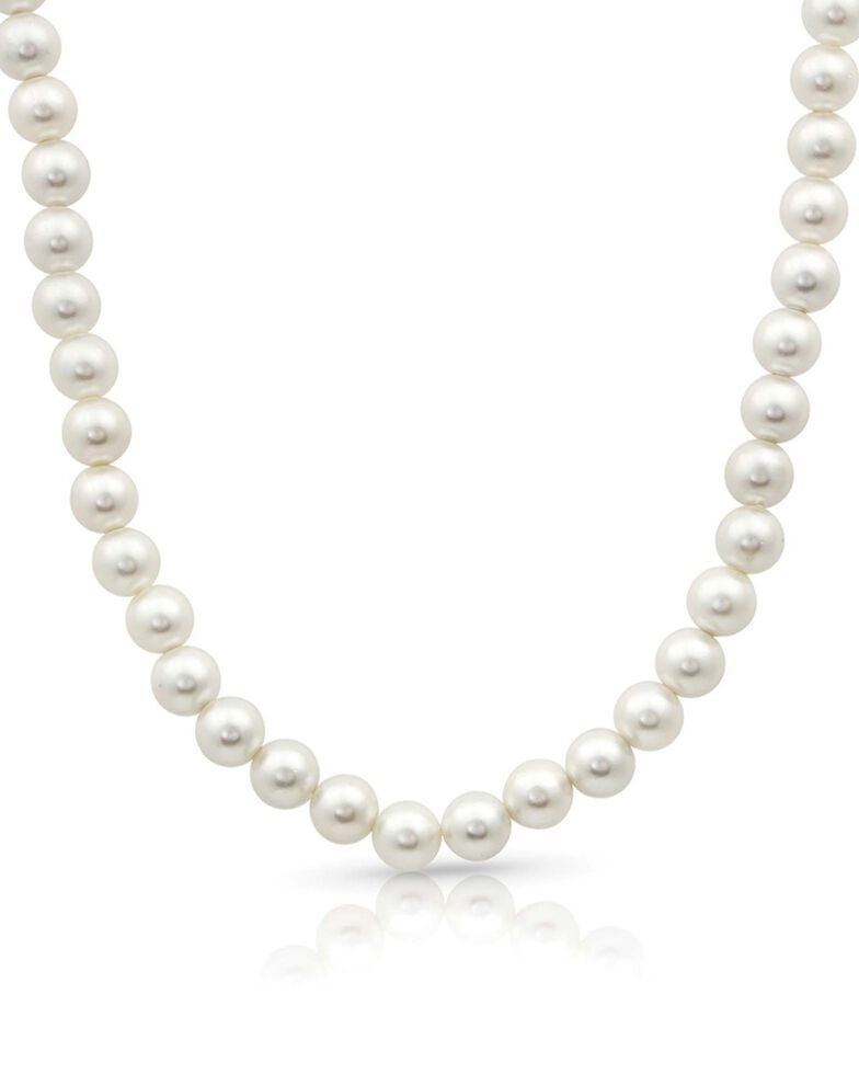 Montana Silversmiths Women's Pearl Rope Necklace, White, hi-res