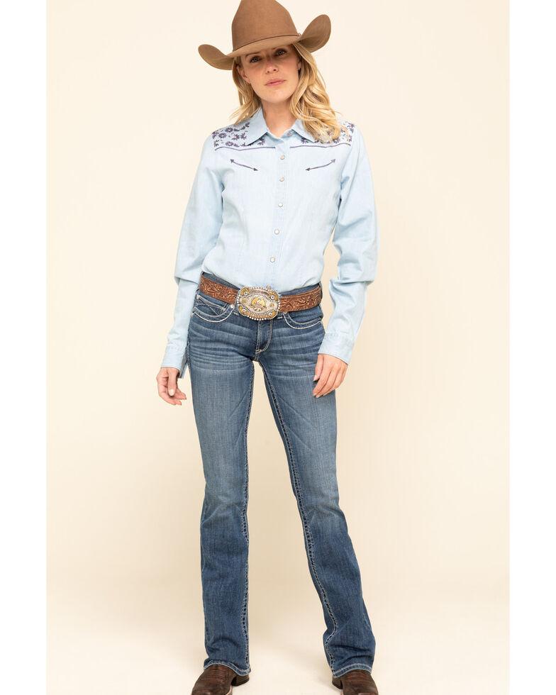Ariat Women's R.E.A.L Hannah Bootcut Jeans , Blue, hi-res