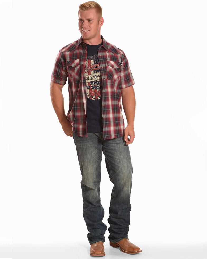 Pendleton Men's Multi Plaid Short Sleeve Western Shirt, Blue/red, hi-res