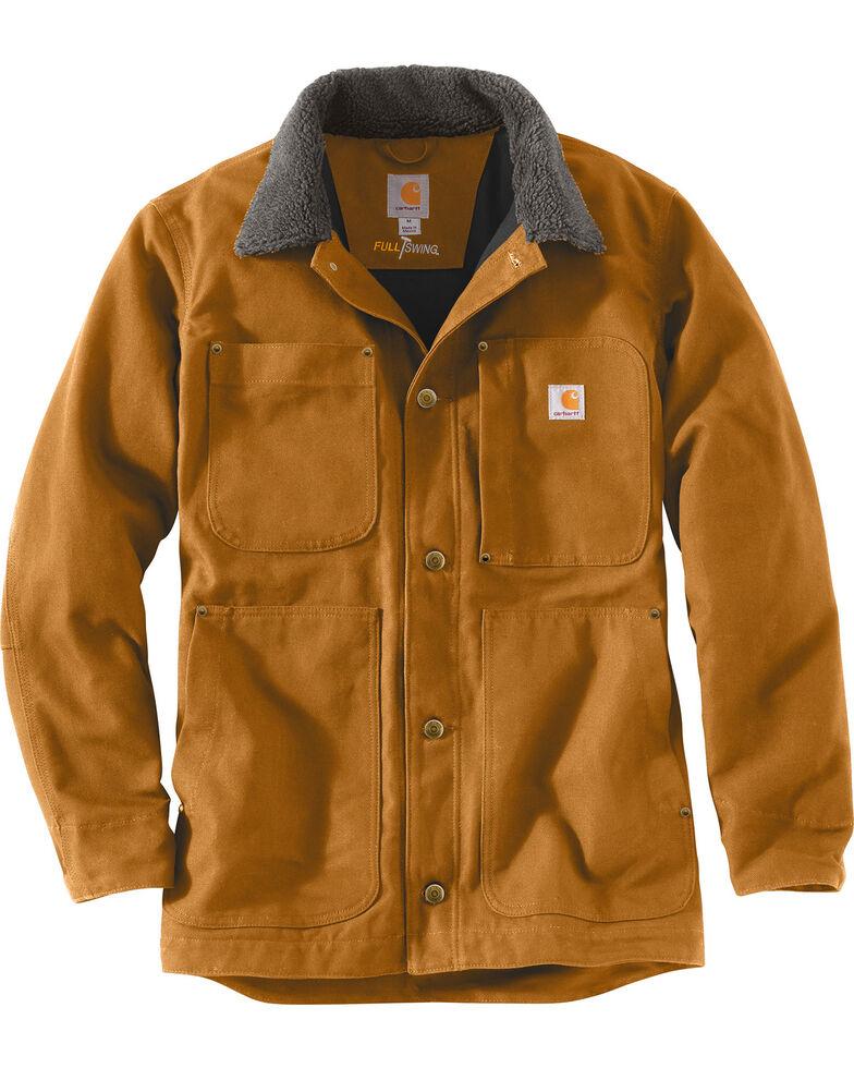 Carhartt Men's Full Swing Chore Coat , Brown, hi-res