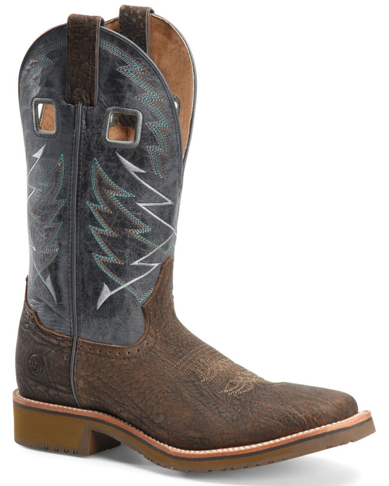 Double H Men's Fernandes Western Work Boots - Soft Toe, Medium Brown, hi-res