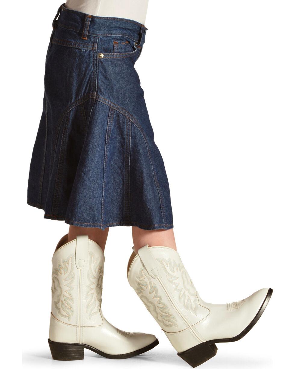 Crazy Cowboy Girls' Denim Skirt , , hi-res