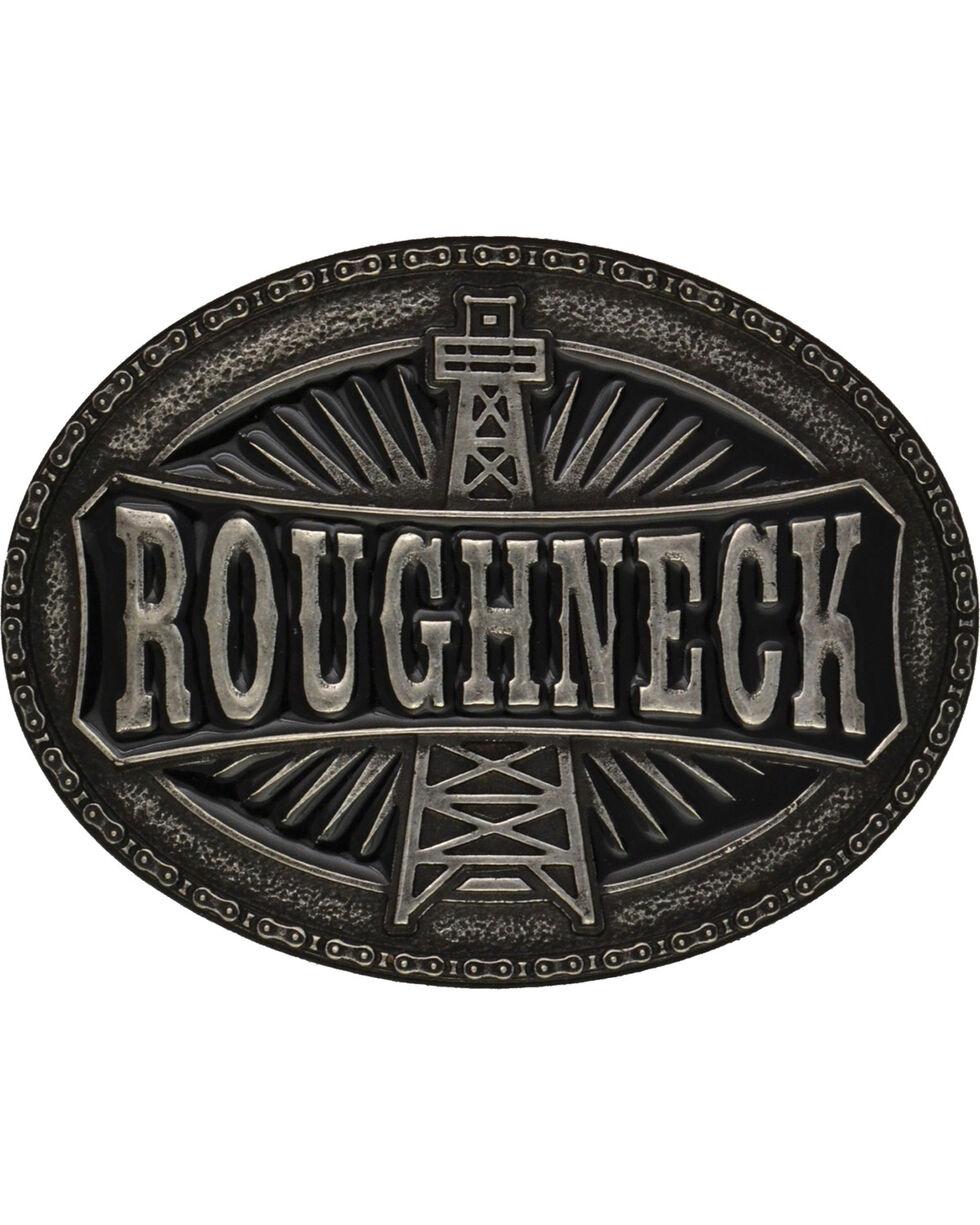 Montana Silversmiths Oil Rig Roughneck Attitude Belt Buckle, Antique Silver, hi-res