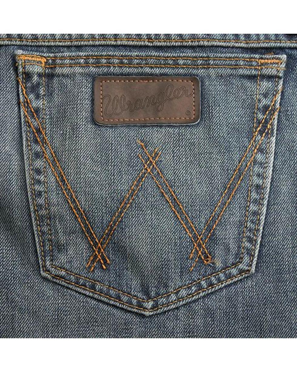Wrangler 20X Men's Competition River Wash Boot Cut Jeans, Vintage Blue, hi-res